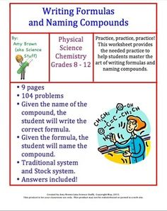 Worksheet: Counting Atoms Version A | Chemical formula, Worksheets ...