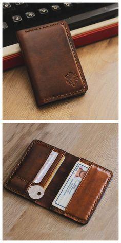 mens accessories – High Fashion For Men Minimalist Leather Wallet, Slim Leather Wallet, Handmade Leather Wallet, Leather Card Case, Leather Men, Real Leather, Leather Wallet Pattern, Gentlemans Club, Diy Wallet