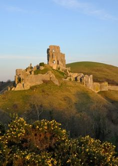 Corfe Castle.  The keep was built in the early 12th century for King Henry I, William the Conqueror's son. It was designed to be impressive – and it certainly was. Standing 21m tall and on the top of a 55m high hill, this gleaming tower of Purbeck limestone could be seen from miles around.  Distance from Shaftesbury to Wareham is 26 miles