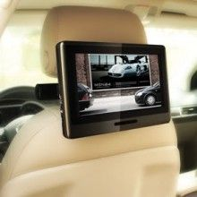 "9"" Universal Portable HD Touch Screen Plug-in Car Headrest Monitor DVD Player"