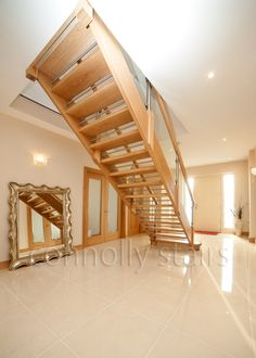 Stairs Ireland - Quality Stairs in Ireland, Irish Made by Connolly Stairs, Providers and Fitters for all types of Stairs and Staircases in Ireland Oak Stairs, House Stairs, Types Of Stairs, Home Stairs Design, Home Decor, Interior Design, Home Interior Design, Home Decoration, Decoration Home