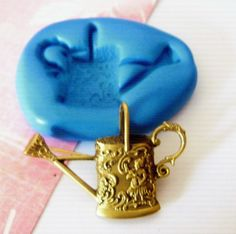 Ornate Watering Can Silicone Mold/Mould 52mm  - Cake Decorating, Cupcakes, Toppers, Fondant, Fimo, Polymer Clay by PickleLillys on Etsy https://www.etsy.com/listing/129331217/ornate-watering-can-silicone-moldmould