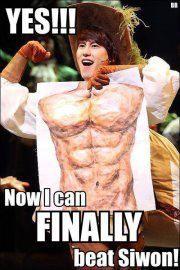 Kyuhyun can finally beat Siwon #kpop #superjunior
