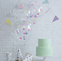 """Stunning clear balloons filled with colourful confetti. Perfect for any birthday celebration!These fun and bright confetti filled balloons are a great way to add fun and colour to your celebration. Clear balloons with tissue paper confetti inside, a great way to add a pop or colour at your party! The balloon contains a mixture of colourful confetti. Each pack contains 5 x 12"""" confetti filled balloons.Naturel Latex.12 inch when fully inflated but can be smaller if required."""