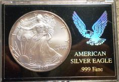 2003 American Silver Eagle Dollar -  1 OZ BU Silver Coin - Walking Liberty - Milk Spots & Toning - Gift / Display / Bullion / Collection by EarthlyCrystals33 on Etsy