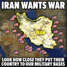 Guess Iran wants war look at how they moved their country in n act of aggression towards the US bases, what are these crazy Persians expecting with this hostile intent!!