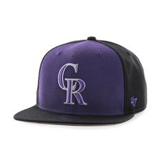 1de1cb6f6f70b Colorado Rockies Sure Shot Accent Captain Black 47 Brand Adjustable Hat