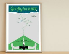 A4 Poster Stilfser Joch Stilfserjoch Passo von FarbwechselDesign