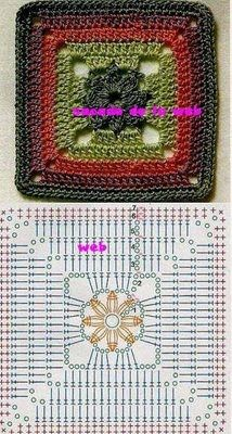 several patterns for different granny squares