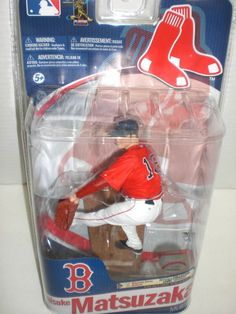 MLB Sports Picks Series 28 Daisuke Matsuzaka Action Figure Red Jersey