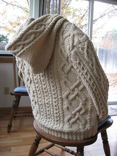 Ravelry: Whitney Double-X Hooded Cardigan pattern by Judy Lamb- free