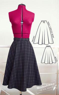 Half circle skirt  http://www.marchewkowa.pl