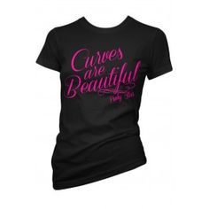 Women's Curves Are Beautiful T-Shirt - Black