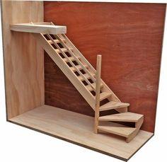 Gradas de madera para subir a un altillo buscar con for Como construir una escalera de metal