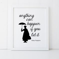 Mary Poppins Quote Disney Home Decor Printable by RosebudPrintCo