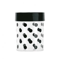 Buy Miss Étoile Black Dots Canister Food Canisters, Plastic Canisters, Storage Canisters, Tea Storage, Safe Storage, Kitchen Storage, Konmari, Black Food