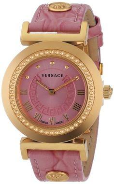 Versace Women's P5Q80D111 S111 VANITY Analog Display Quartz Pink Watch