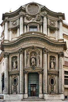 Église Saint-Charles aux quatre Fois - Rome - Borromini (1665-1667) - Baroque