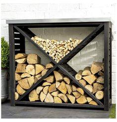 Outdoor Firewood Rack, Firewood Holder, Firewood Shed, Outdoor Storage, Indoor Firewood Storage, Fire Wood Storage Ideas, Mens Room Decor, Home Decor, Galvanized Sheet Metal