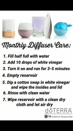 How to clean your diffuser. Cleaning your Doterra diffuser. Haven't got a diffuser or oils yet? Get your own diffuser and essential oils here Yl Oils, Essential Oil Diffuser Blends, Aromatherapy Oils, Doterra Essential Oils, Natural Essential Oils, Young Living Essential Oils, Doterra Diffuser, Essential Oil For Cleaning, Helichrysum Essential Oil Uses