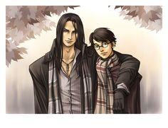 Sirius et Harry by HitoFanart.deviantart.com on @deviantART