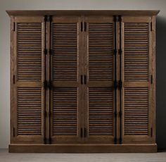 French oak American country to do the old retro closet two shutters wardrobe solid wood wardrobe closet four French Country Rug, French Oak, French Country Decorating, Solid Wood Wardrobes, Large Wardrobes, Property Design, Wardrobe Closet, Closet Doors, Country Furniture