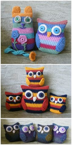 I have ghathered 20 crochet owl patterns-how to crochet owl patterns that wil realli inspire you! Crochet Owl Pillows, Crochet Owls, Crochet Gifts, Crochet Animals, Knit Crochet, Chrochet, Owl Crochet Pattern Free, Free Crochet, Owl Patterns
