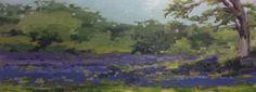 """Camas Meadow, Uplands Park Plain air oil, 6""""x18"""""""