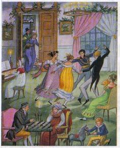Families celebrated Christmas together in the Regency