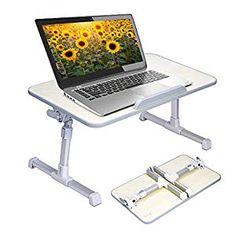 Buy Neetto Adjustable Laptop Table, Portable Standing Bed Desk, Foldable Sofa Breakfast Tray, Notebook Computer Stand Reading Holder for Couch Floor - Minitable Honeydew Portable Laptop Table, Laptop Table For Bed, Bed Table, Table Legs, Adjustable Laptop Table, Adjustable Beds, Bed Tray, Lap Desk, Laptop Stand