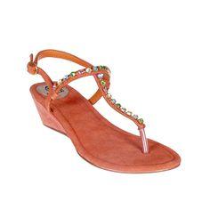 Sandalia cuña piedras multicolor - Cuñas - Zapatos - Tiendacuple.com