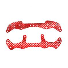 Red Bright Full Carbon fiber Front Leading Rear plate Spare parts for J-CUP 2015 Tamiya RC MINI 4WD Car Rock Crawlers RC Racer #Affiliate