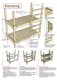 Lage køyeseng Bunk Beds, Woodworking Plans, Diy And Crafts, Home And Garden, How To Plan, Inspiration, Architecture, Storage, House