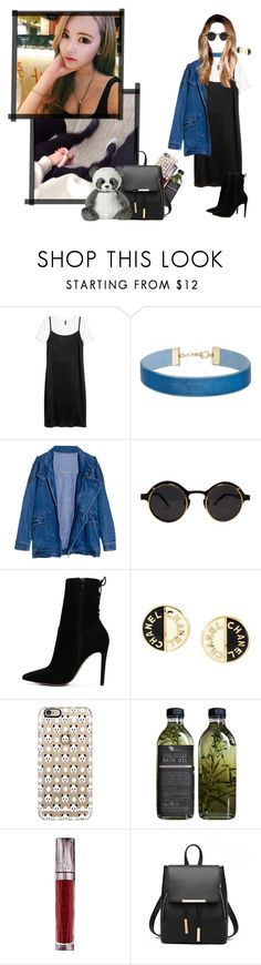 """""""† Sinny - Date at the Zoo with Taehyung †"""" by ulzz-nara ❤ liked on Polyvore featuring Miss Selfridge, ALDO, Chanel, Casetify and Urban Decay"""