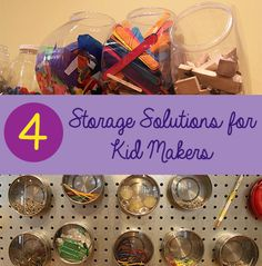 Find storage solutions for your child's #craft materials in our #LearningToolkit #parents blog. Click for details.