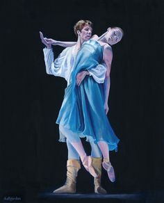 Another #ballet piece of mine. Find more at duffgordon.gallery #art #fineart #painting