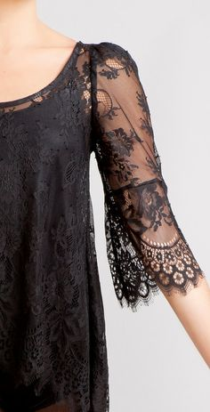 Black Swan french lace scalloped tunic -by stylemadehere, $89.99