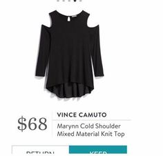 Vince Camuto Marynn Cold Shoulder Mixed Material Knit Top - Stitch Fix - Edie - would love to have something like this. Stitch Fix App, Stitch Fix Outfits, Stitch Fix Stylist, Style Challenge, Material Girls, Cut Jeans, Nice Tops, Style Me, Dress Up