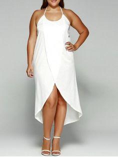 GET $50 NOW   Join RoseGal: Get YOUR $50 NOW!http://m.rosegal.com/plus-size-dresses/halter-high-slit-plus-size-698164.html?seid=bkluho7namn39a2p3ojo1624i4rg698164