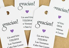Gift Tag - Gracias Thank You in Spanish, Bridal Shower Favor Tag, Party Favor Tag, Spanish Thank You Tag, Wedding Favor Tag, Quinceanera on Etsy, $12.62 CAD