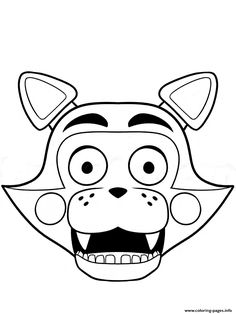 Fnaf Foxy Coloring Page Five Nights At Freddy S Fnaf Coloring
