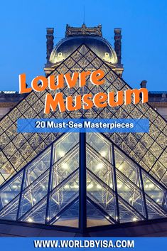 The Louvre Museum is the biggest museum in the world. It is is the house of 380,000 objects and displays 35,000 works of art. Now imagine, to visit it...