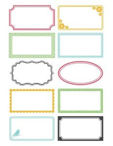 6 Best Images of Printable Labels For Organizing Bathroom - Free Printable Blank Labels, Free Printable Bathroom Labels and Free Printable Blank Label Templates Printable Labels, Printable Planner, Planner Stickers, Free Printables, Labels Free, Free Label Templates, Card Templates, Blank Labels, Jar Labels