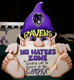 Baltimore Ravens gnome funny sign by WOODLANDCRITTERS on Etsy, $50.00