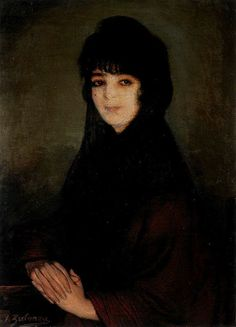 """er mundo de manué"": Ignacio ZULOAGA y Zabaleta; obras, cuadros pinturas, Mi prima Cándida. 1914. Óleo sobre lienzo. 84 x 63 cm."