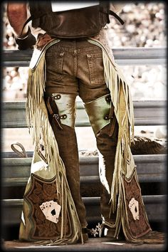 Boots Chaps and Spurs III cowboy boots chaps by RoseCollinsArtist