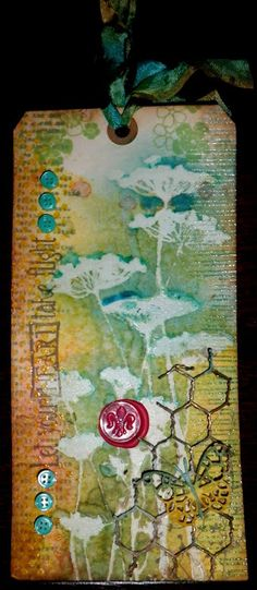 Just Jolande: Hip Hop! Love the background watercolor look to the flowers Card Tags, Gift Tags, Collages, Unity Stamps, Art Journal Pages, Art Journaling, Paper Tags, Artist Trading Cards, Vintage Tags