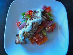 Leftover Chicken Greek Salad Chicken Kabobs, Greek Salad, Basil, Sage, Mexican, Beef, Ethnic Recipes, Food, Meat