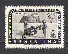 Argentina 1961 Antarctic Exploration Dogs Base Explorers Transport 1V N26651 | eBay