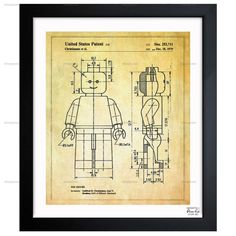 Lego Toy Figure, 1979, Blueprint